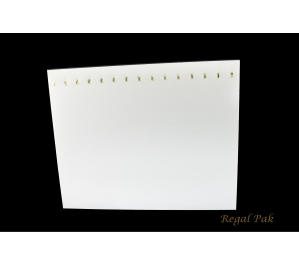 """White Leatherette Chain Board With 15 Hooks 15"""" X 12""""H"""