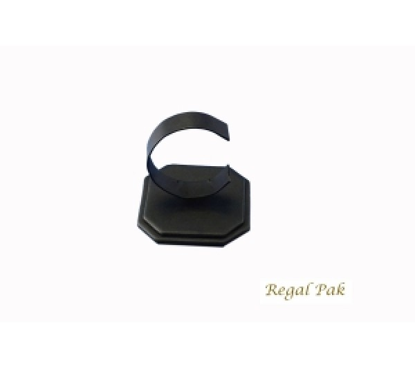 """Black Leatherette Watch Display Stand 3 1/4"""" X 3 1/4"""" X 3 3/8""""H"""
