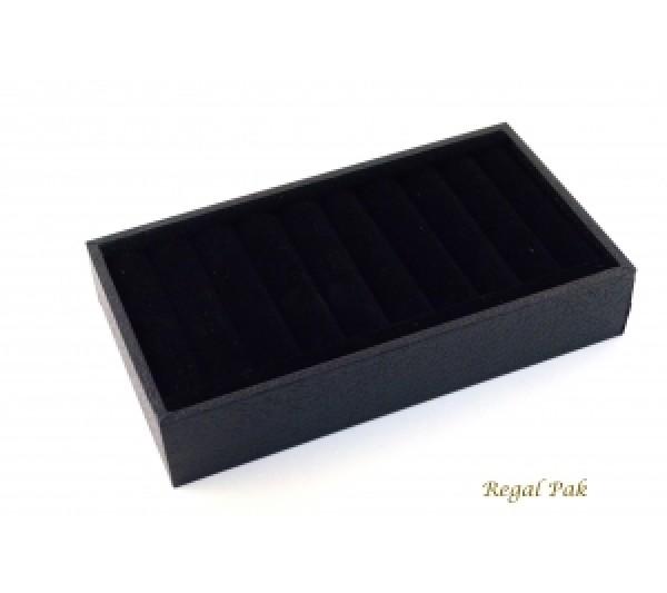"""Black Velvet Bangle Tray 8 1/2"""" X 4 1/8"""" X 1 3/8""""H"""