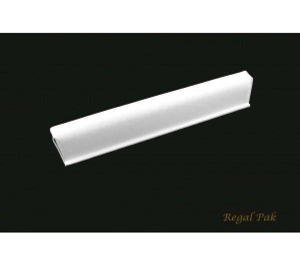 "White Leatherette Cuff Bracelet Display 14"" X 2 1/2"" X 2 1/4""H"