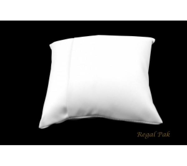 "Large White Leatherette Bracelet/Watch Pillow 5"" X 5"""