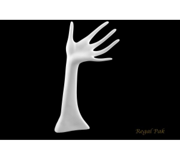 "White Polystyrene Hand Display 6"" X 13""H"