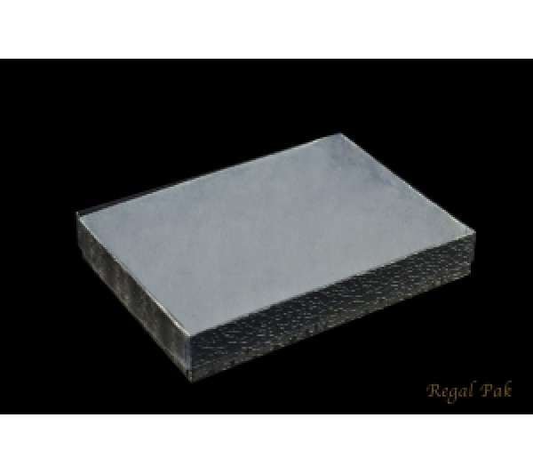 Silver Texture View-Top Cotton Filled Paper Box  5 3/8 (100 pcs)
