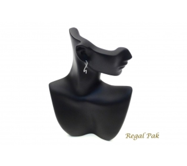 "Black Elegant Poly Figure Display 6"" X 2-3/4"" X 9""H"