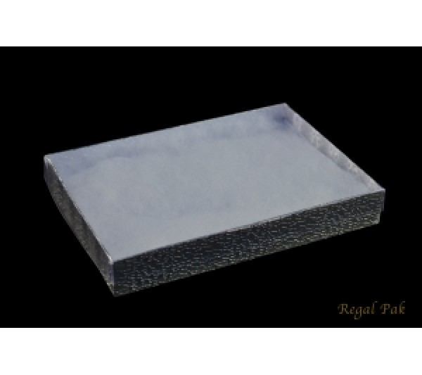 Silver Texture View-Top Cotton Filled Box 7 1/8 (100 pcs)