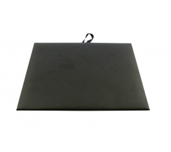 "Steel Grey Faux Leather Half Size Pad 7-3/4"" X 6-3/4"""