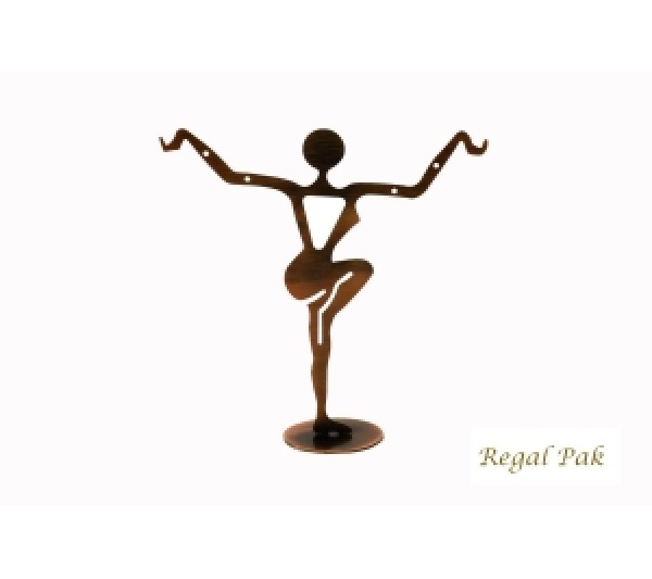 """Large Copper Dancer Earring Stand 4-3/4"""" X 4-5/8""""H"""