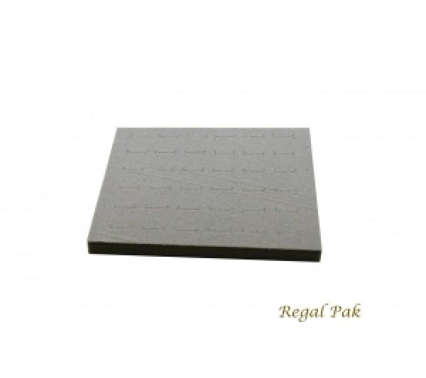 "Half Size Gray Ring Foam Insert (36 Rings) 7-3/4"" X 6-3/4"" X 5/8""H"