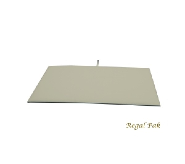 "Full Size White Leatherette Tray Pad 14-1/8"" X 7-5/8"""