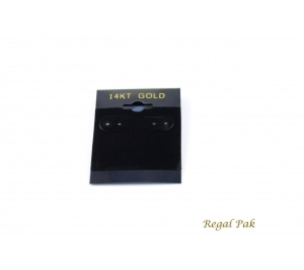 "Black 14k Gold Hanging Earring Cards (100 Pieces In A Pack) 1.5"" X 2"""