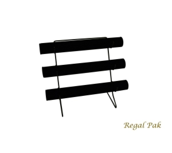 "Black Velvet Three-Bar Display With Metal Base 12-1/8"" X 6-1/2"" X 12""H"