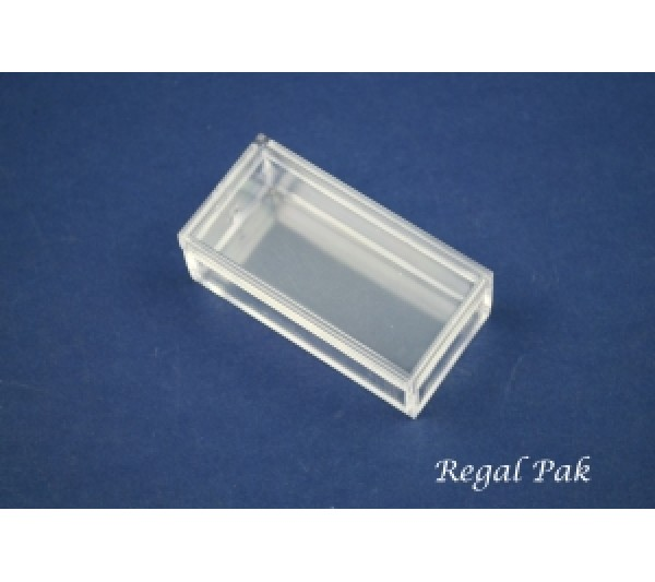 "Clear And Empty Rectangular Acrylic Gem Box 2"" X 1"" X 23/32""H"