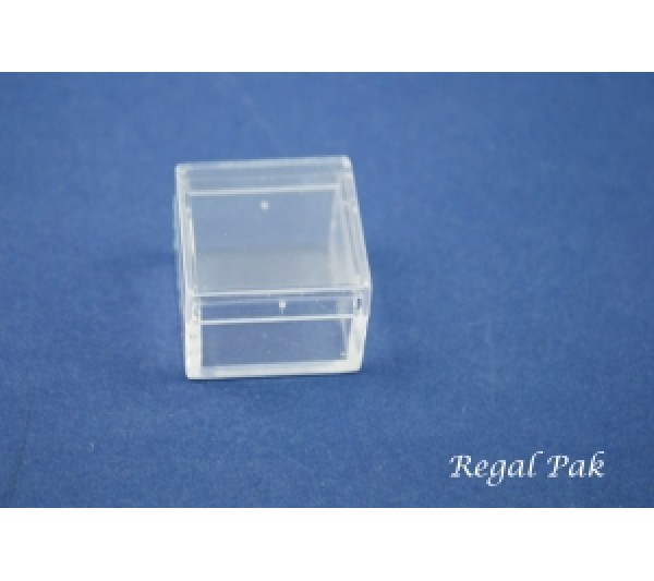"Clear And Empty Acrylic Square Gem Box 1"" X 1"" X 3/4"""