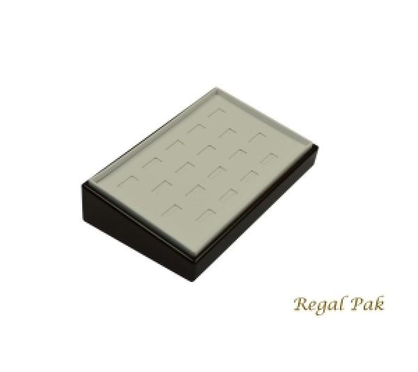 "Rosewood Slanted Ring Tray (18-Slot) 9"" X 6"" X 2 1/4""H"