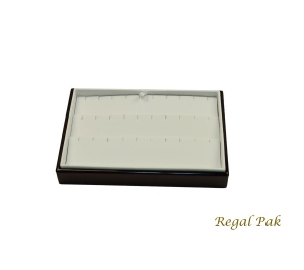 """Rosewood Slanted Earring Tray (15-Pair) 9"""" X 6"""" X 2 1/4""""H"""