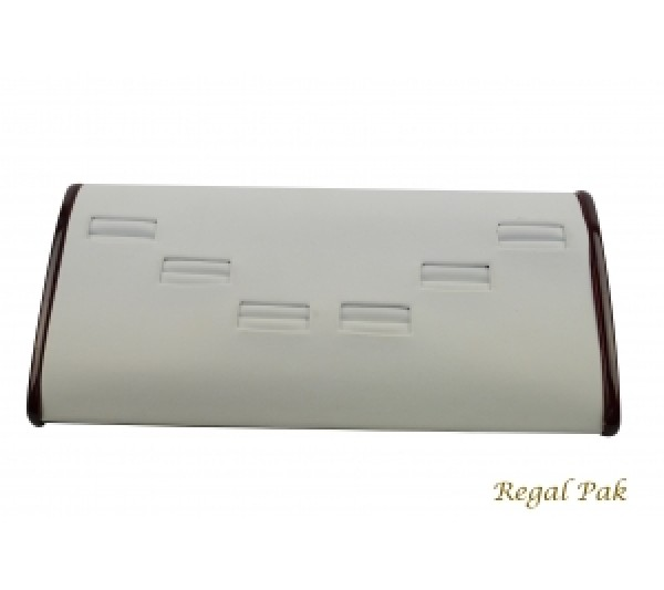 "Rosewood Ring Display (6-Slot) 8-3/4"" X 4-1/2"" X 1-3/4""H"