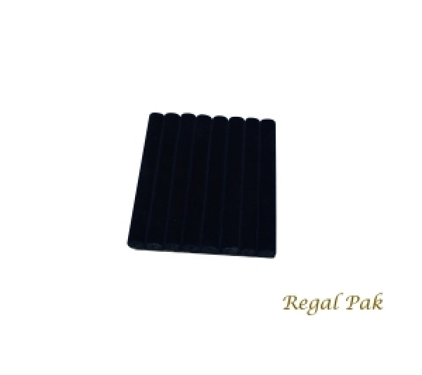 """Black Velvet Ring Slot Half Size Foam Pad With 8 Sections 7-3/4"""" X 6-3/4"""""""