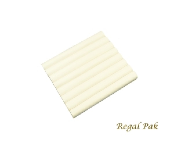 """White Leatherette Ring Slot Half Size Foam Pad With 8 Sections 7-3/4"""" X 6-3/4"""""""