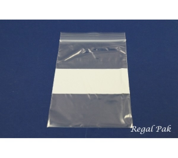 "Reclosable 2 Mil White Band Zipper Bags (100 Pieces In A Pack) 4"" X 6"""