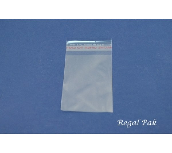 """Ultra Clear Opp Bags With Self-Adhesive Seal (100 Pieces In A Pack) 2"""" X 3"""""""