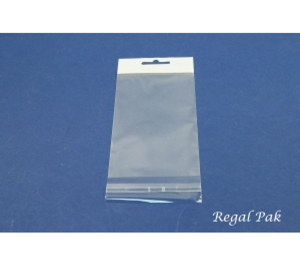"Clear Opp Bag With Hanging Header (100 Pieces In A Pack) 3"" X 5"""
