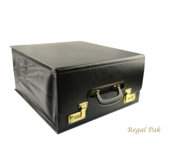"Foldable Salesman's Drop Front Case 16"" X 8 -1/2"" X 17""H"