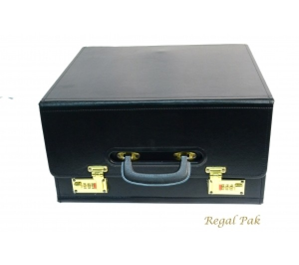 "Foldable Salesman's Drop Front Case 16"" X 8- 1/2"" X 14""H"