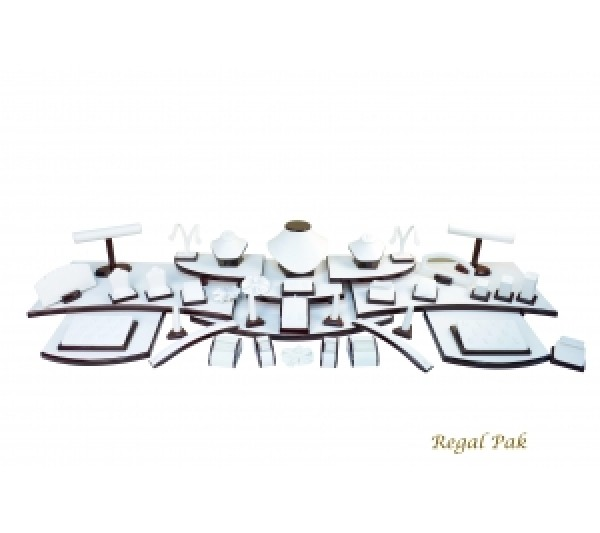 "Elegant Rosewood Portable Display Set (61-Pcs) 67-1/4"" X 16"" X 7-3/4""H"