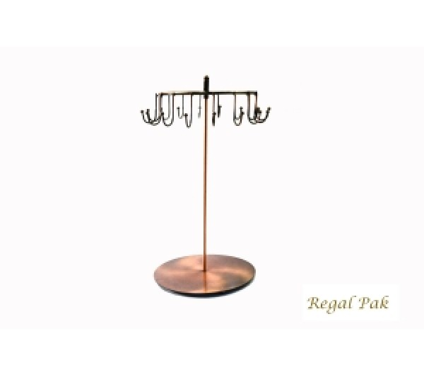 "Copper Metal Rotating Display (16 Arms) 8-1/2"" X 14""H"