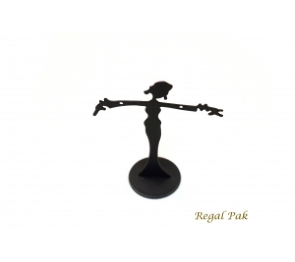 "Black Metal Dancer Earring Stand 2-3/8"" X 2-1/2""H"