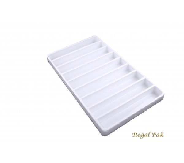 "White Plastic Stackable Tray (9-Section) 15-7/8"" X 9-1/2"" X 1-3/8""H"