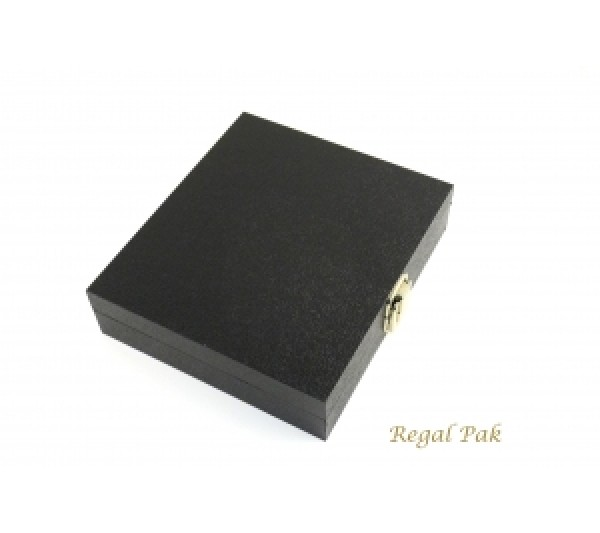 "Black Half Size Case With Locker 8-1/4"" X 7-1/4"" X 2""H"