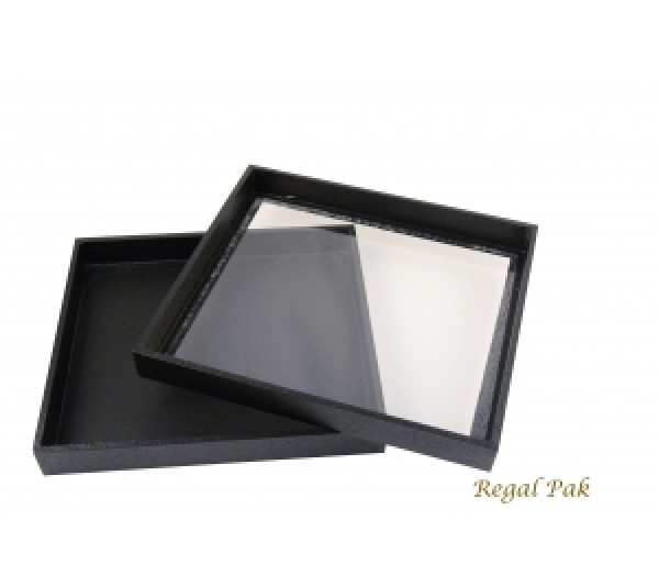 "Black Case With Acrylic Top 8-3/4"" X 7-3/4"" X 1-1/4""H"