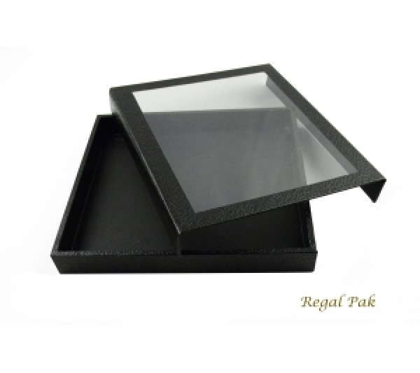 "Black Case With Detachable Magnetic Acrylic Lid 8-1/4"" X 7-1/4"" X 1""H"