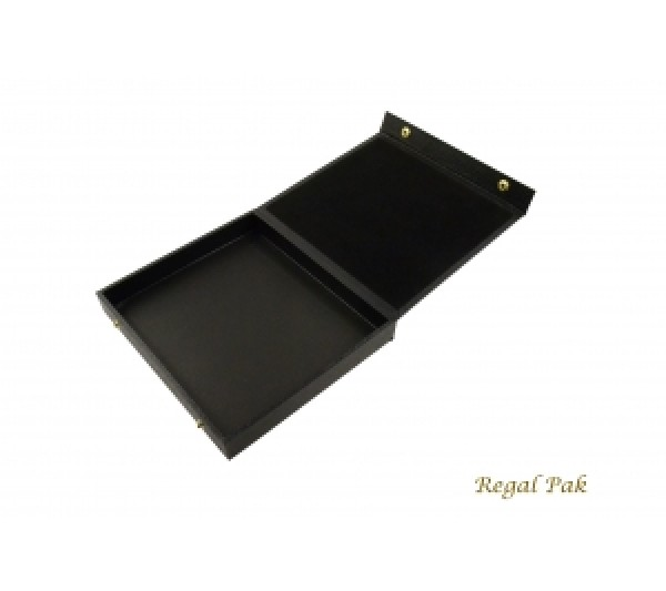 "Black Case With Attached Snap Lid 8-1/4"" X 7-1/4"" X 1-1/8""H"