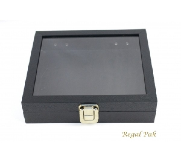 "Half Size Display Case With Locker And Glass Top 8-1/4"" X 7-1/4"" X 2""H"