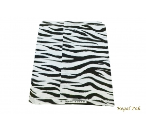 "Zebra Print Jewelry Gift Bag (100 Pieces In A Pack) 8 1/2"" X 11"""