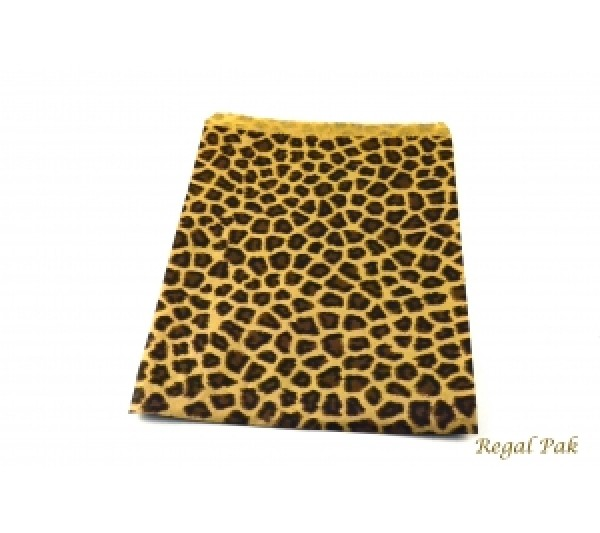 "Leopard Print Jewelry Gift Bag (100 Pieces In A Pack) 8 1/2"" X 11"""