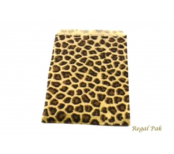 "Leopard Print Jewelry Gift Bag (100 Pieces In A Pack) 5"" X 7"""
