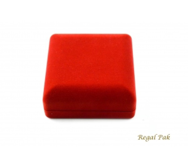 Red Flocked Watch Box 3 3/8
