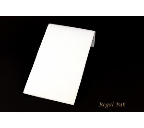 "Medium White Leatherette Display Ramp 8"" X 4 3/4"" X 2""H"