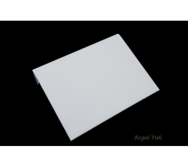 "Large White Leatherette Display Ramp 10 1/4"" X 8 1/4"" X 1 7/8""H"