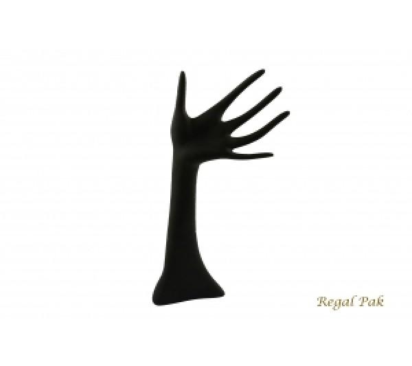 "Black Polystyrene Hand Display 6"" X 13""H"