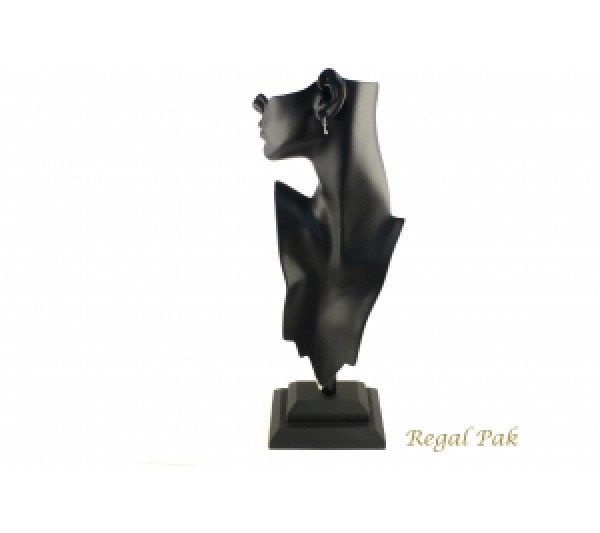 "Black Elegant Poly Figure Display 8-1/4"" X 5-1/2"" X 19-1/2""H"