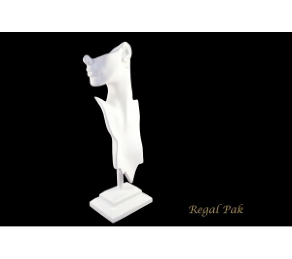 "White Elegant Poly Figure Display 8-1/4"" X 5-1/2"" X 19-1/2""H"