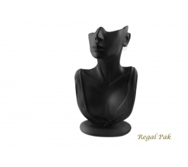 "Black Elegant Poly Figure Display 6-7/8"" X 3-1/2"" X 12-1/4""H"