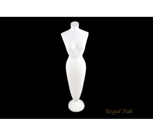"White Elegant Poly Mannequin 4"" X 3"" X 15-3/4""H"