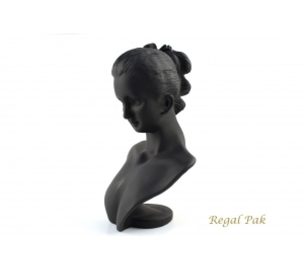"Black Elegant Poly Figure Display 5-1/2"" X 3-1/3"" X 8""H"