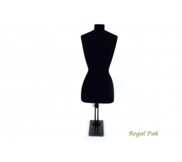 "Black Flocked Plastic Body Stand 5-3/4""X16""H"