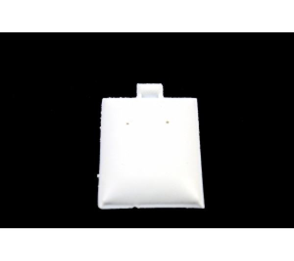 "White Plain Plastic Puff Pad Hanging Earring Cards (100 Pieces In A Pack) 1-1/2"" X 1-3/4"" H"